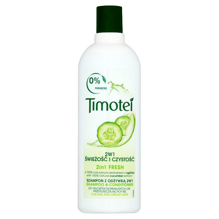 Fotografie Timotei Svěžest 2v1 šampon s kondicionérem 400 ml