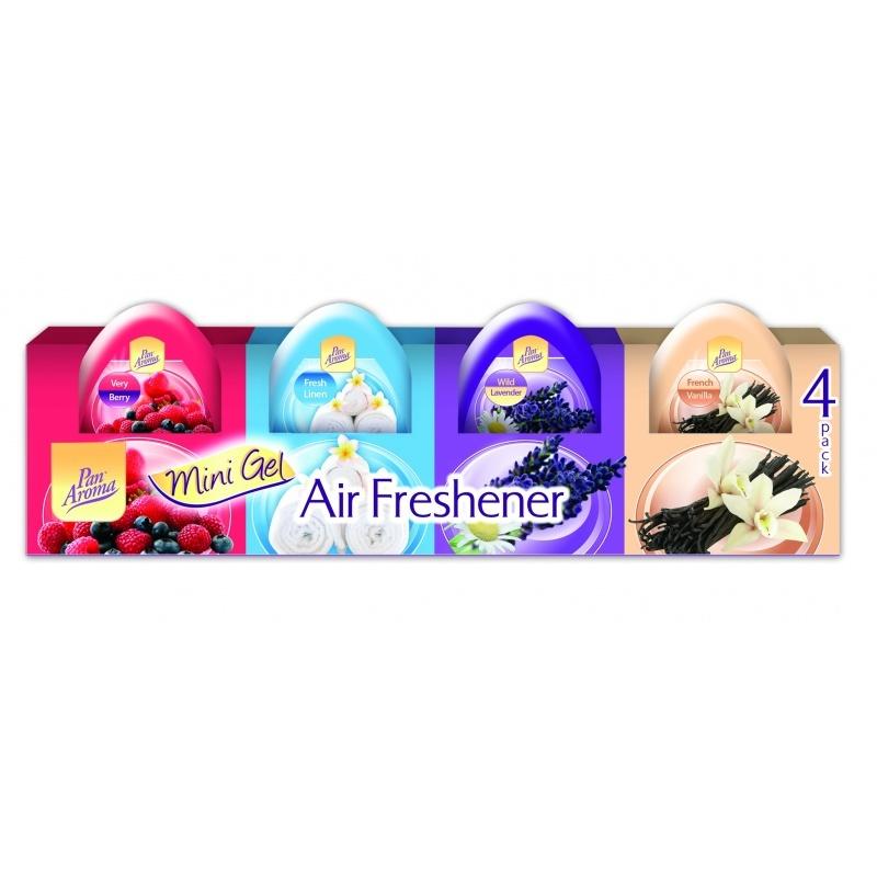 Fotografie Airpure gelové mini osvěžovače vzduchu 4 x 60 g