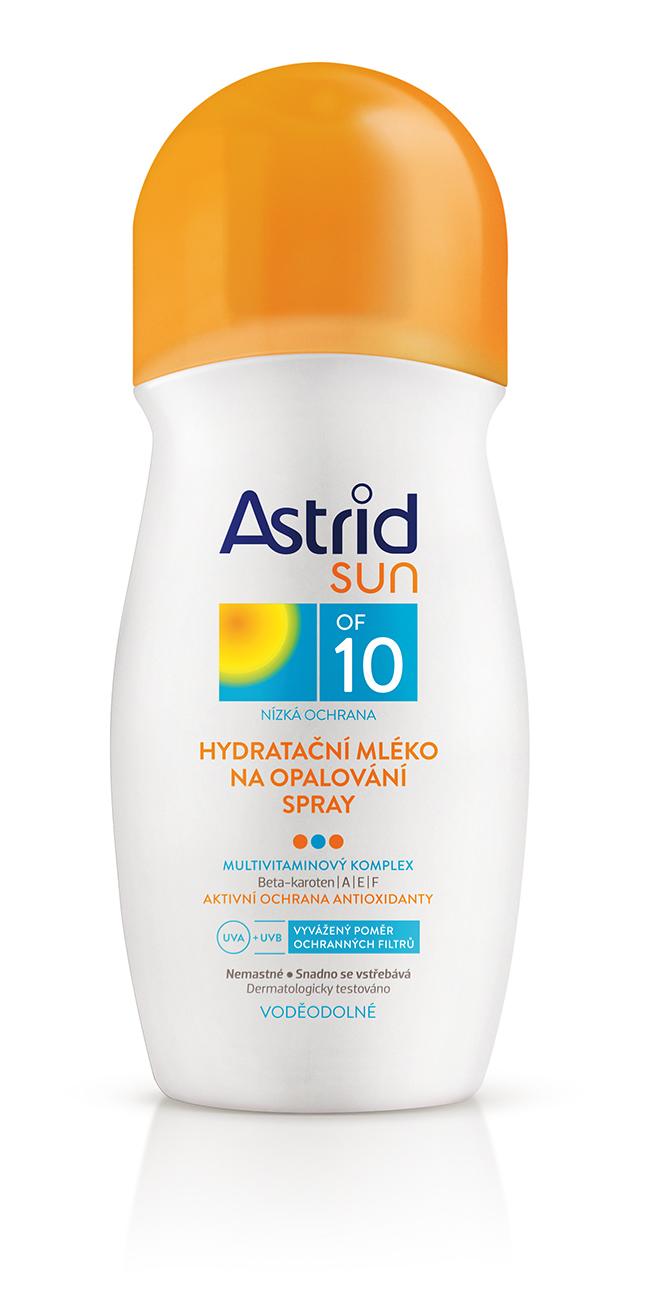 Astrid Sun hydratační mléko na opalování spray OF 10 200 ml