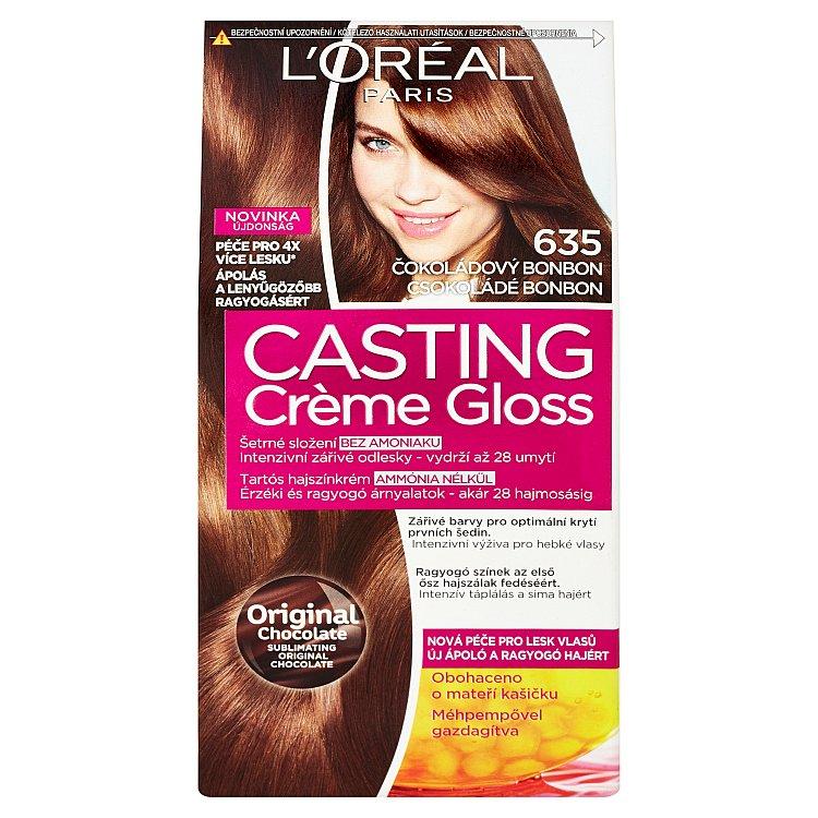 L'Oréal Paris Casting Crème Gloss barva na vlasy Čokoládový bonbon 635