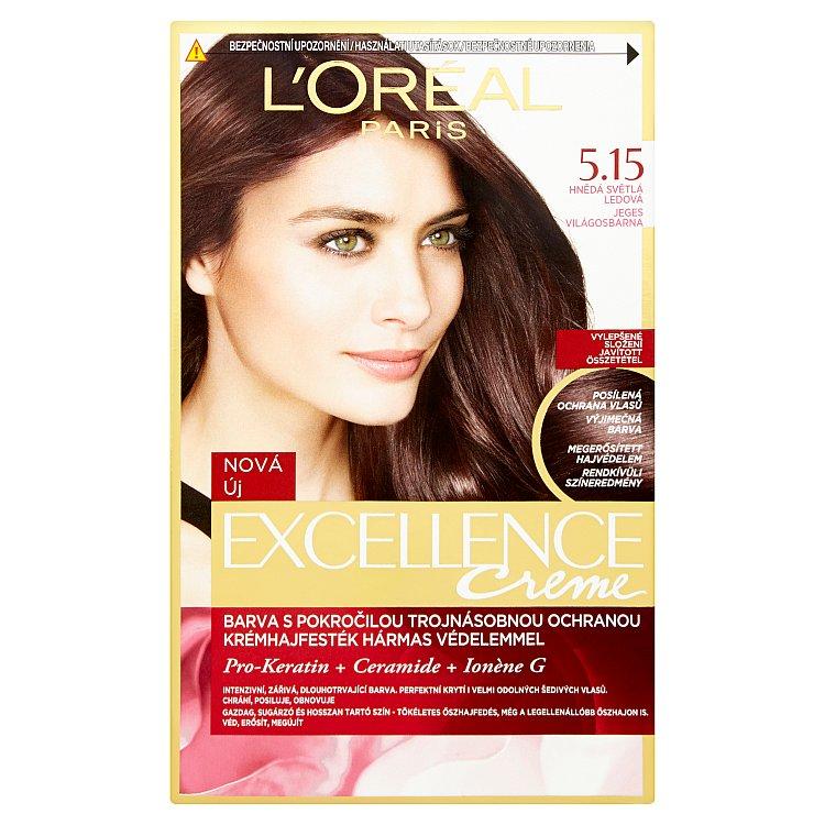 L'Oréal Paris Excellence Creme hnědá světlá ledová 5.15