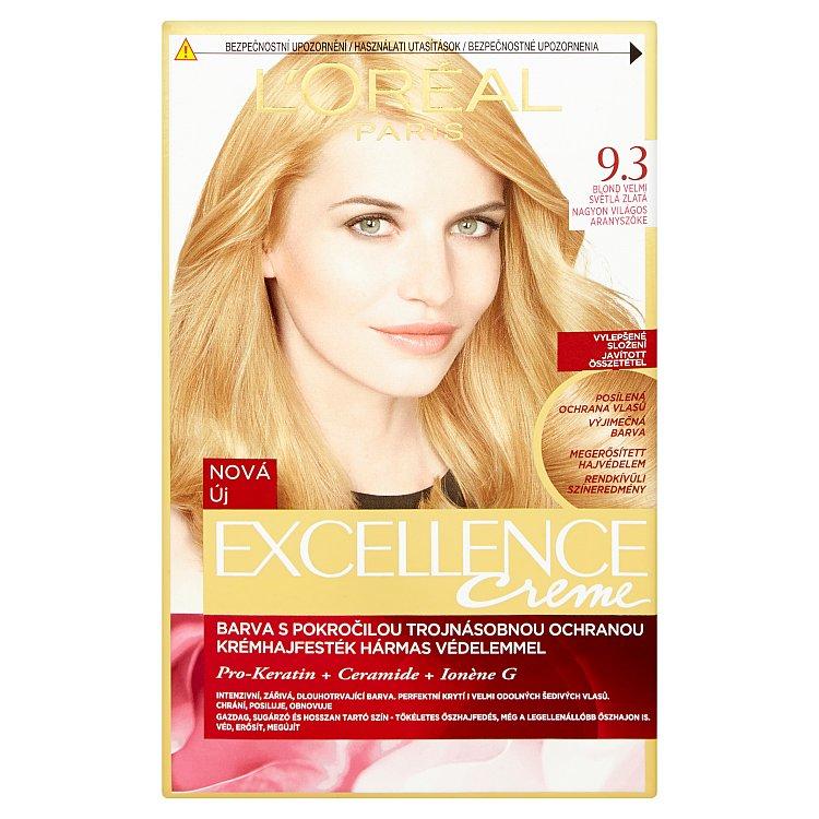 L'Oréal Paris Excellence Creme blond velmi světlá zlatá 9.3
