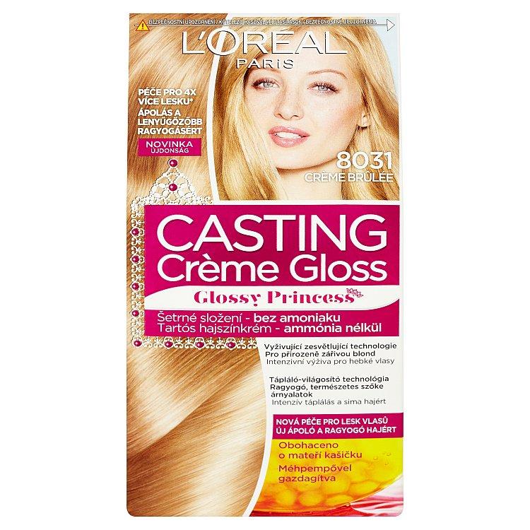 L'Oréal Paris Casting Crème Gloss barva na vlasy Crème brûlée 8031