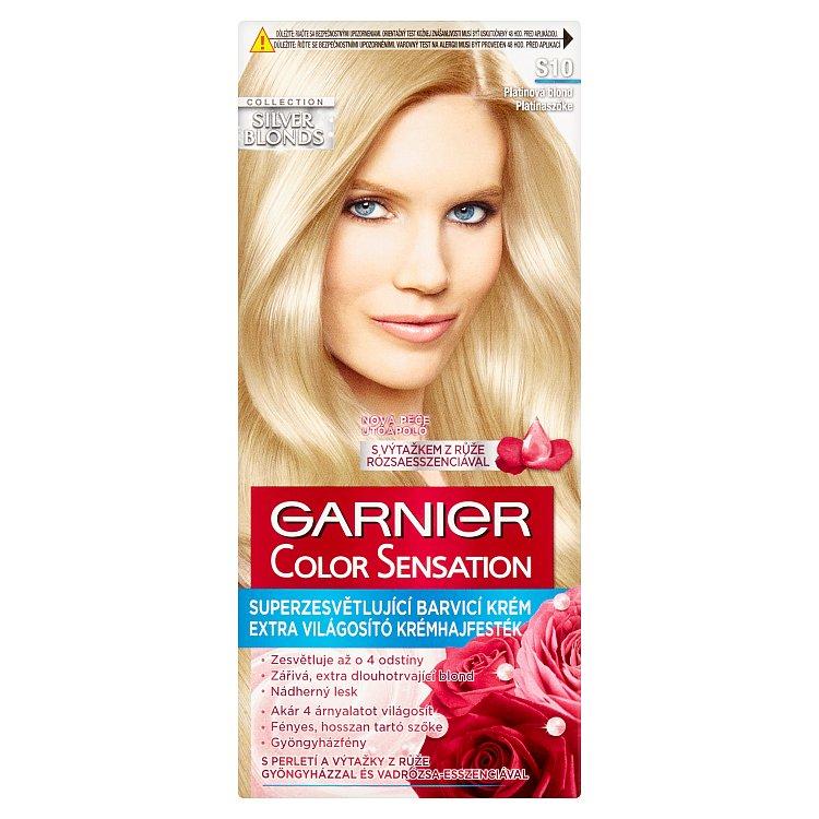 Garnier Color Sensation Superzesvětlující barvicí krém platinová blond S10