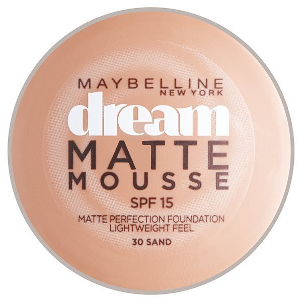 Maybelline NY Dream Matte Mousse, make-up v lehké pěně 30 Sand