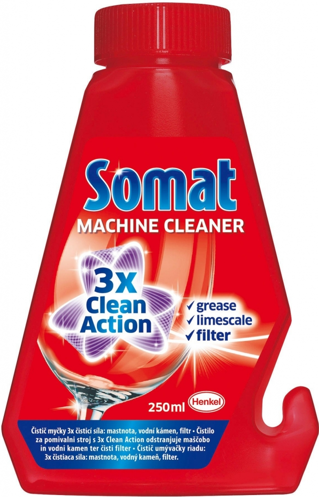 Somat 3x Clean Action čistič myčky 2 x 250 ml