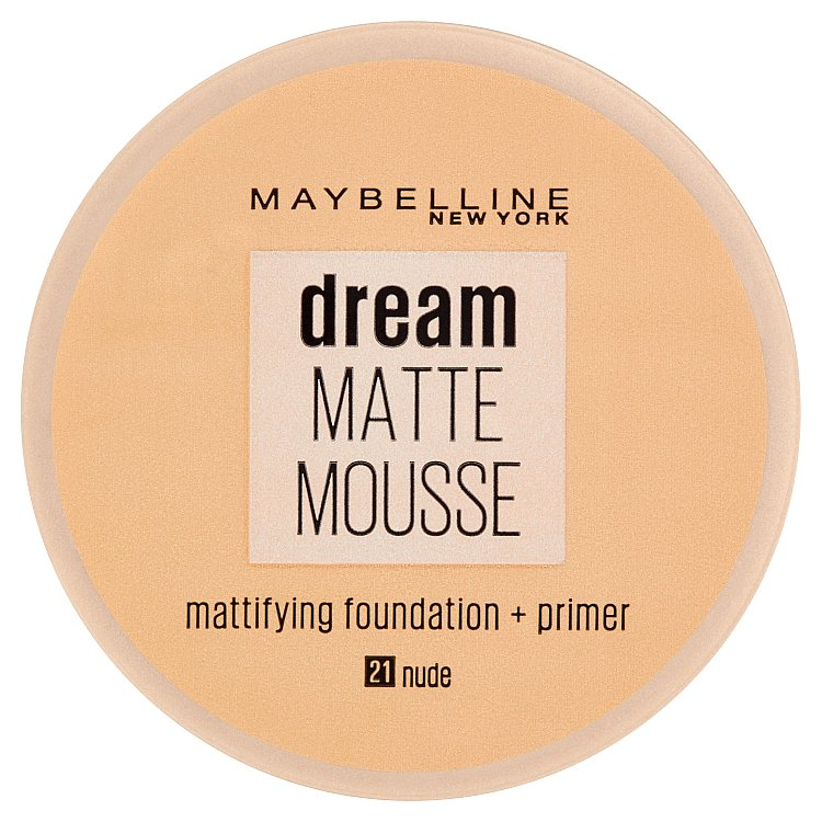 Maybelline NY Dream Matte Mousse, make-up v lehké pěně 21 Nude