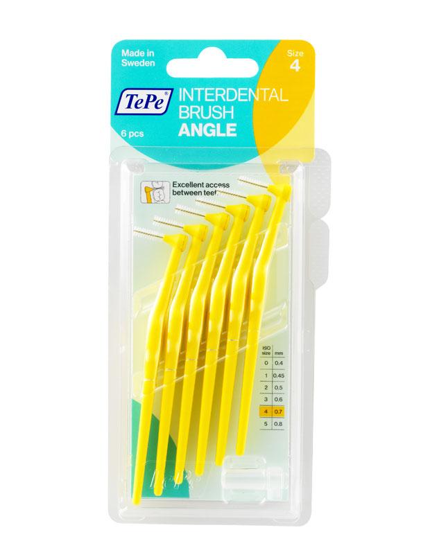 TEPE Mezizubní kartáčky ANGLE 0,7 mm žlutý 6 Ks