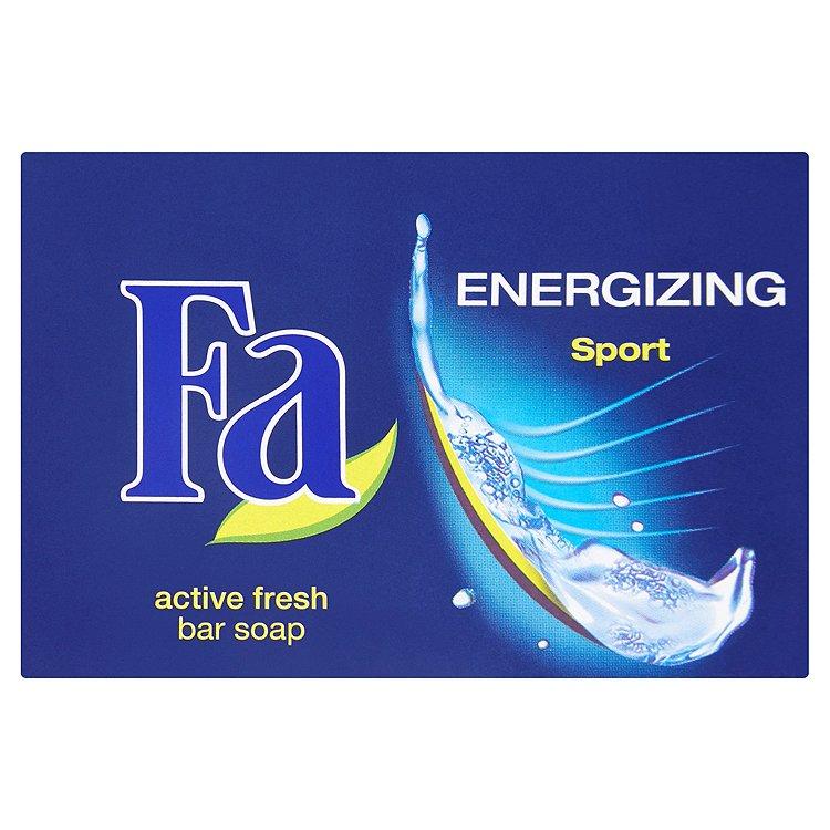Fotografie Fa Energizing Sport tuhé toaletní mýdlo 90 g