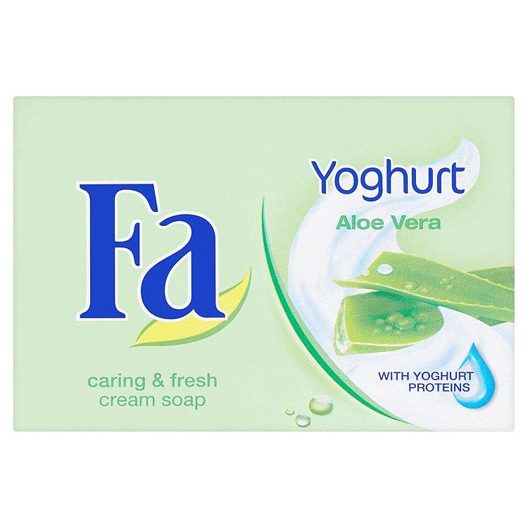Fotografie Fa Yoghurt Aloe Vera krémové toaletní mýdlo 90 g