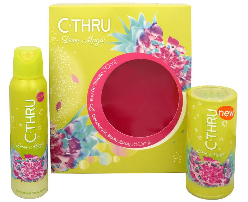C-THRU Lime Magic - toaletní voda s rozprašovačem + deodorant ve spreji 30 ml + 150 ml