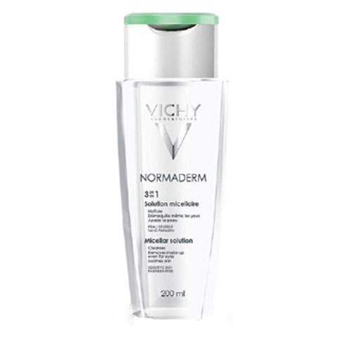 Vichy Normaderm, micelární čisticí voda pro citlivou problematickou pleť 200 ml