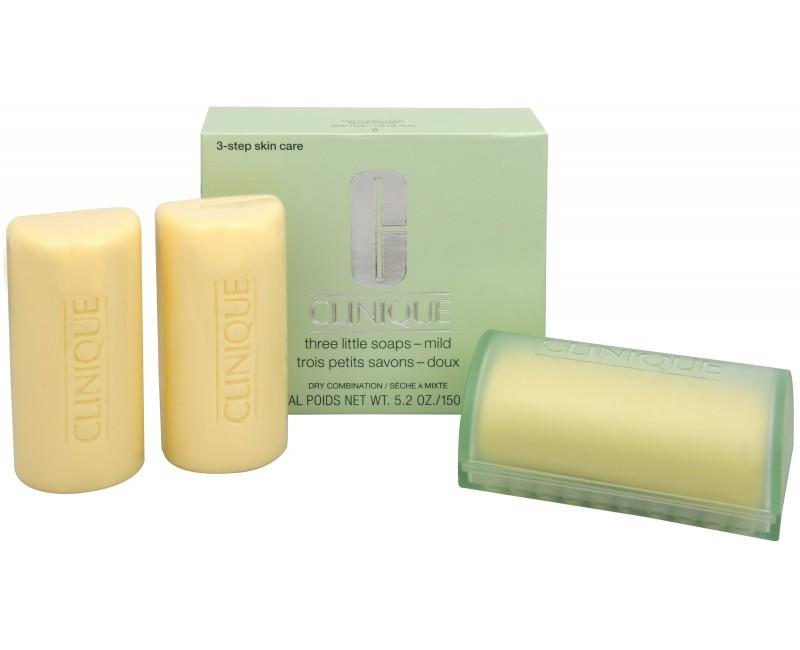 Clinique čisticí mýdlo na obličej pro suchou až smíšenou pleť 3 x 50 g