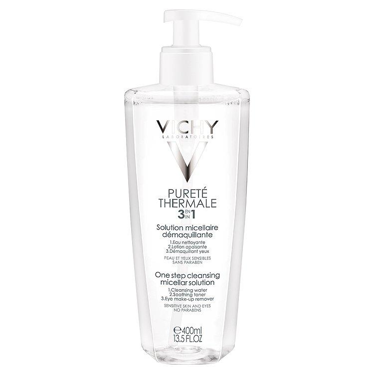 Vichy Purete Thermale, odličovací micelární voda na citlivou pleť a oči 400 ml