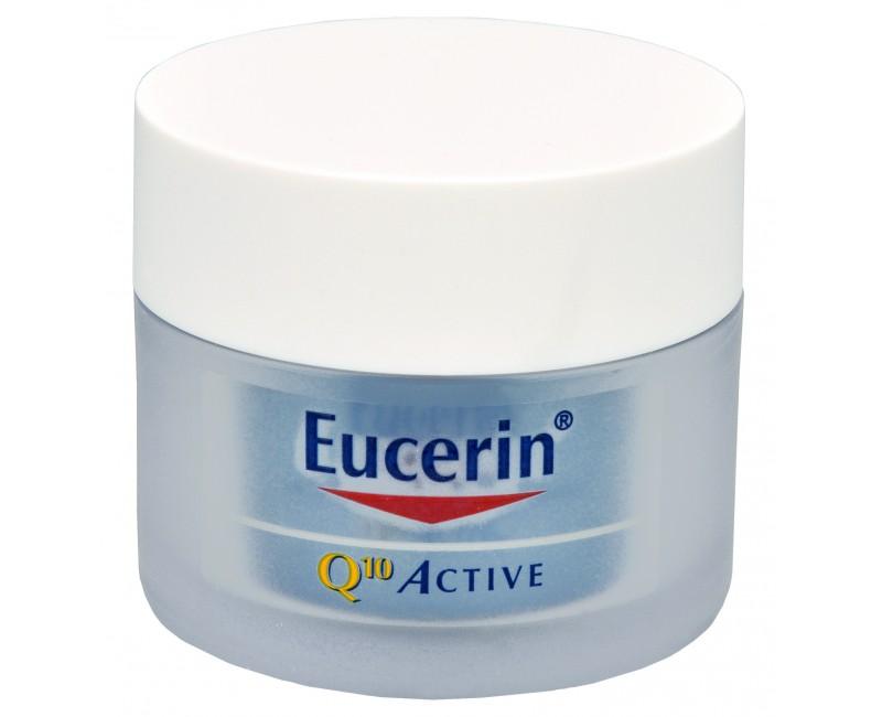 Fotografie Eucerin Q10 Active, regenerační noční krém proti vráskám pro všechny typy citlivé pleti 50 ml