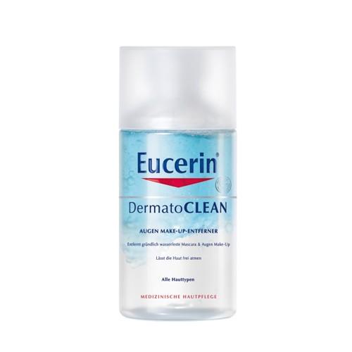 Fotografie Eucerin DermatoCLEAN, dvoufázový odličovač voděodolného očního make-upu 125 ml