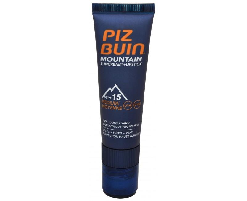 Piz Buin Mountain 2 v 1 sluneční krém SPF 15 a ochranný balzám na rty SPF 30 20 ml + 2,3 ml