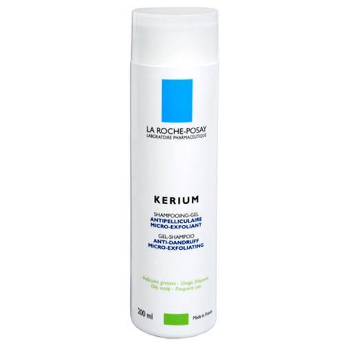 Fotografie La Roche Posay Gelový šampon na mastné lupy Kerium 200 ml