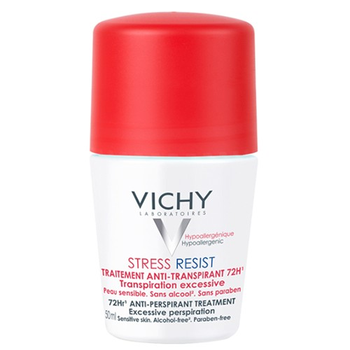 Fotografie Vichy Stress Resist 72H antiperspirant roll-on proti nadměrnému pocení 50 ml