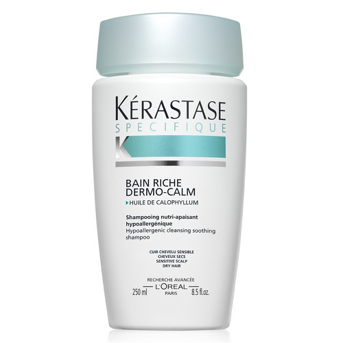 Fotografie Kérastase zklidňující šampon pro citlivou vlasovou pokožku a suché vlasy Bain Riche Dermo-Calm 1000 ml