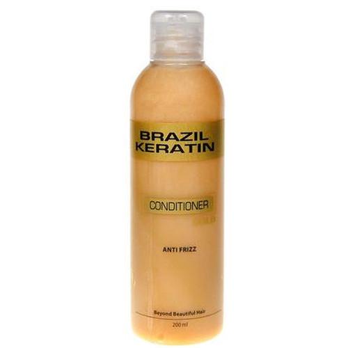 Fotografie Brazil Keratin zlatý kondicionér pro poškozené vlasy 300 ml