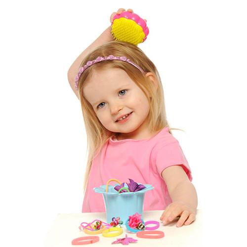 Fotografie Tangle Teezer dětský profesionální kartáč na vlasy Tangle Teezer (Magic Flowerpot) Flower Pot růžovo-žlutý
