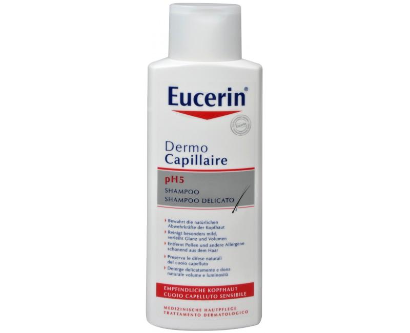 Fotografie Eucerin šampon na vlasy pro citlivou pokožku pH5 Dermocapillaire 250 ml