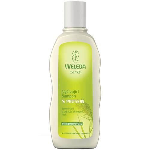 Fotografie Weleda vyživující šampon s prosem pro normální vlasy 190 ml