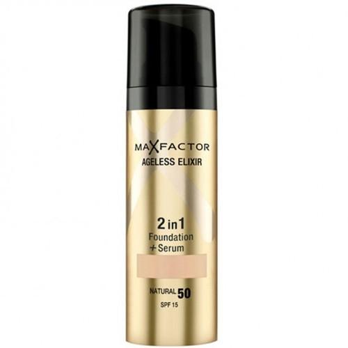 Max Factor Ageless Elixir 2 v 1 make-up a sérum 80 Bronze, 30 ml