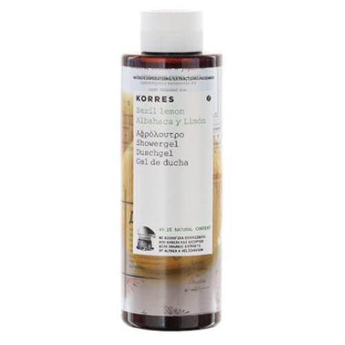 Fotografie Korres Hydratační sprchový gel s bazalkou a citronem 250 ml