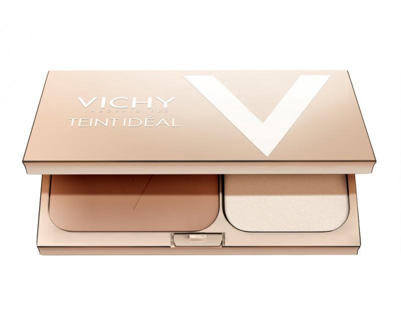 Vichy rozjasňující kompaktní pudr Teint Ideal Medium