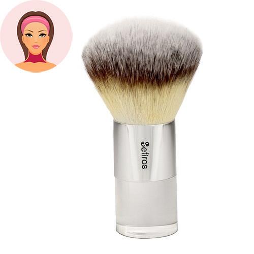 Sefiros Silver malý pudrovací štětec na make-up a tělo
