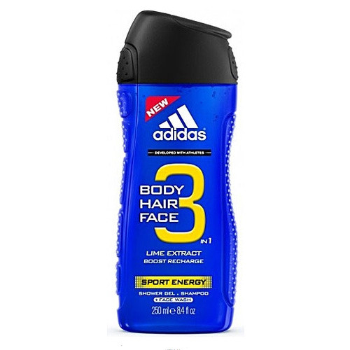 Fotografie Adidas Sport Energy sprchový gel pro muže 3 v 1 400 ml