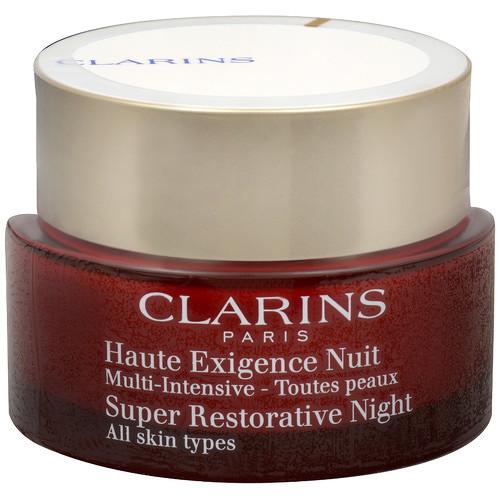 Clarins Super Restorative Night, zpevňující noční péče pro všechny typy pleti 50 ml