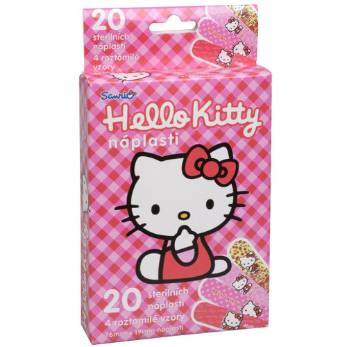 Fotografie Dětské náplasti Hello Kitty 20 ks