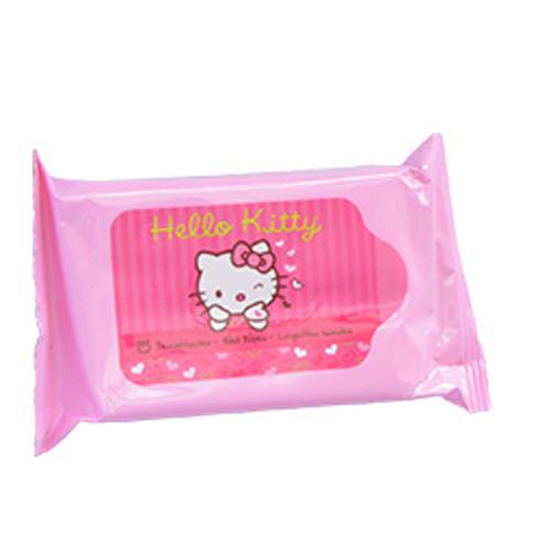 Fotografie Vlhčené ubrousky pro děti Hello Kitty 15 ks