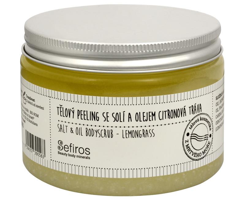 Sefiros tělový peeling se solí a olejem 300 ml, citronová tráva