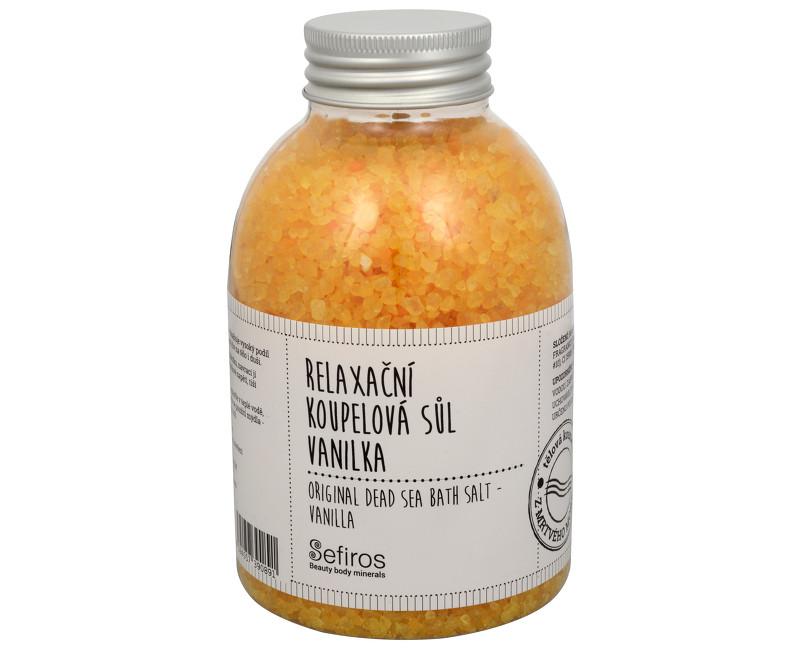 Fotografie Sefiros Relaxační koupelová sůl Vanilka (Original Dead Sea Bath Salt) 500 g