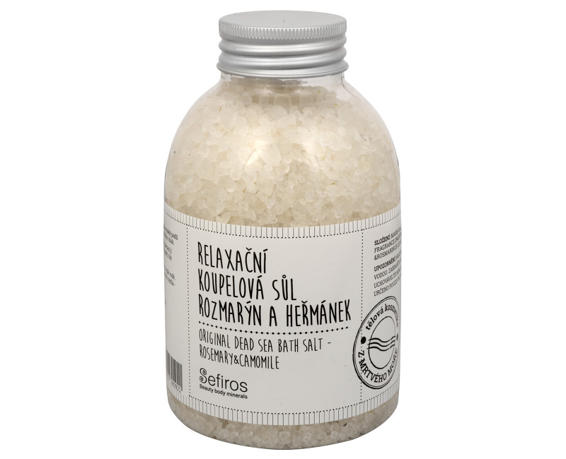 Sefiros relaxační koupelová sůl rozmarýn a heřmánek 500 g