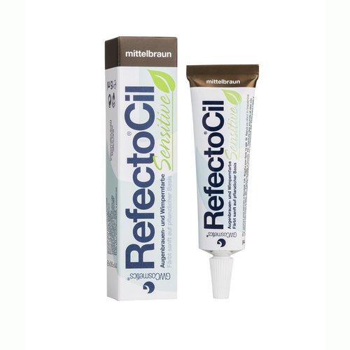 RefectoCil barva na řasy a obočí Sensitive Středně hnědá