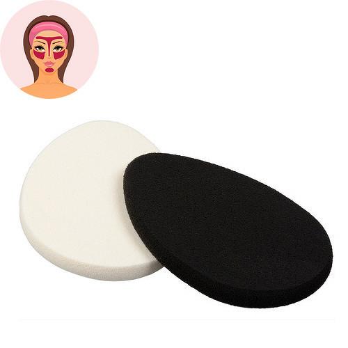 Sefiros Black & White oválná houbička na make-up 2 ks