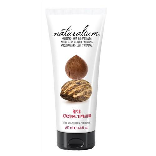 Fotografie Naturalium Nuts Shea and Macadamia regenerační maska s keratinem 200 ml