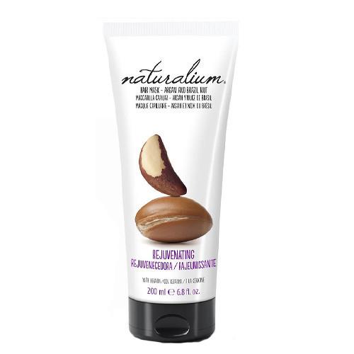 Fotografie Naturalium Nuts Argan and Brazil Nut hydratační maska na vlasy s keratinem 200 ml