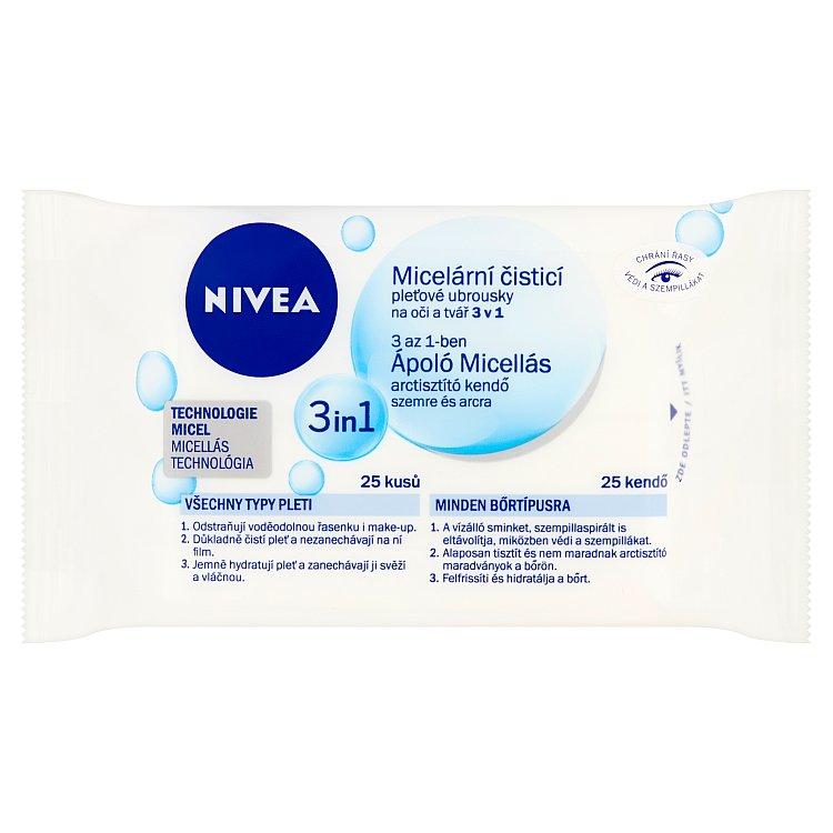 Nivea 3v1 micelární čisticí pleťové ubrousky 25 ks