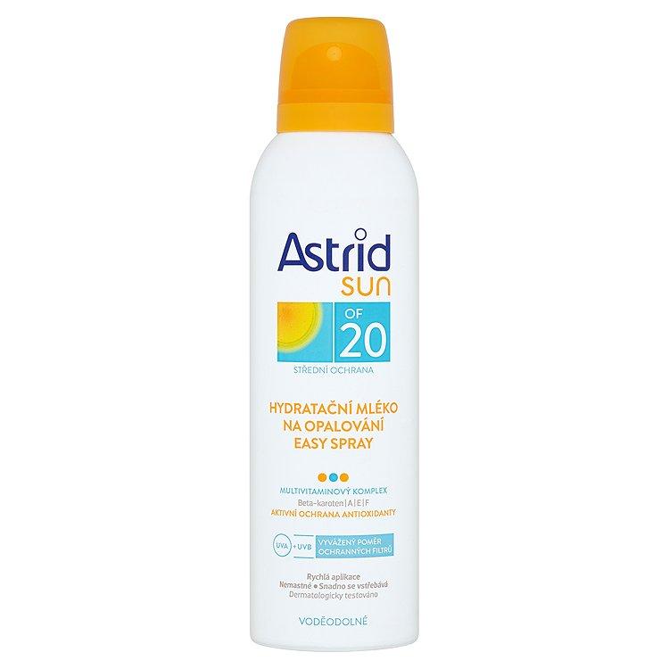 Astrid Sun hydratační mléko na opalování easy spray OF 20 150 ml