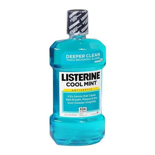Listerine Cool Mint ústní voda proti zubnímu povlaku 1000 ml