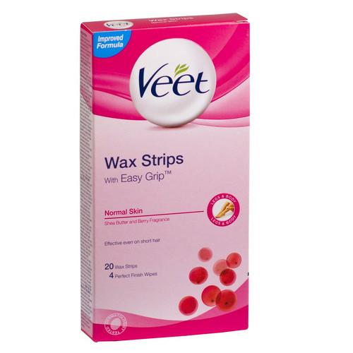 Veet Easy Strip voskové pásky s proužkem pro snadné uchopení 12 ks