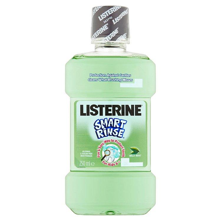 Listerine Smart Rinse Mild Mint ústní voda 250 ml