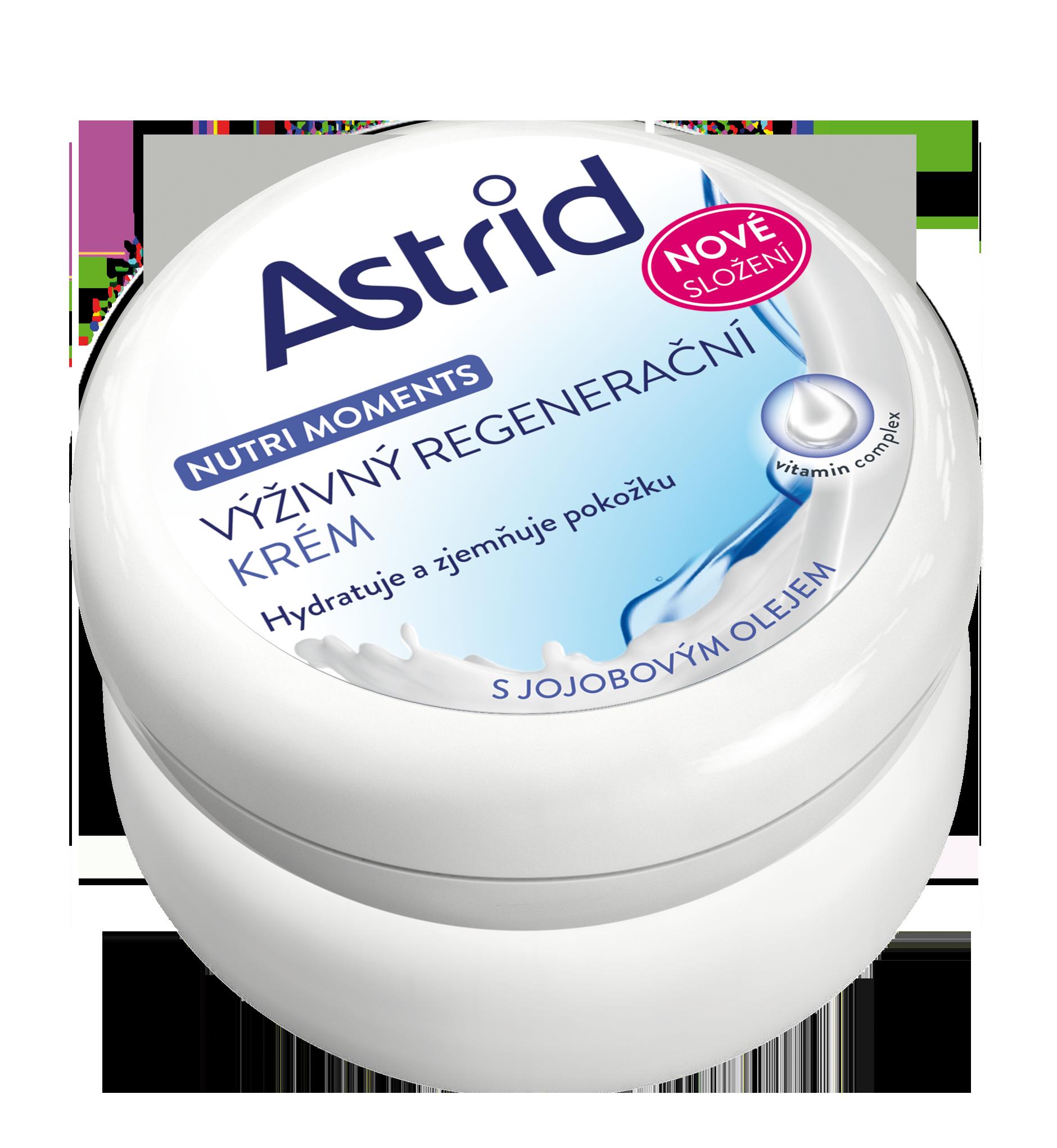 Astrid Nutri Moments výživný regenerační krém s jojobovým olejem, nové složení 150 ml