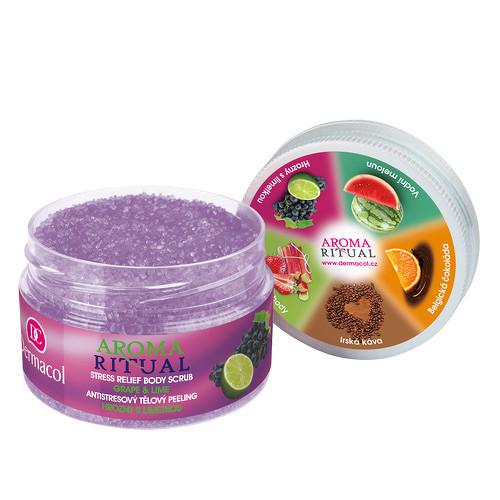 Dermacol Aroma Ritual antistresový tělový peeling hrozny s limetkou 200 g